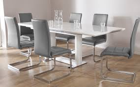 tokyo white high gloss extending dining table and 6 chairs set design of extended dining table