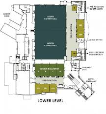 image of the st charles convention center s lower level floor plan
