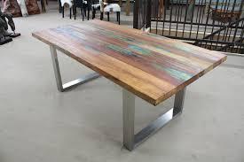 Erstaunlich Esstisch Holz Edelstahl Tisch Recyceltes 2 8922 Haus