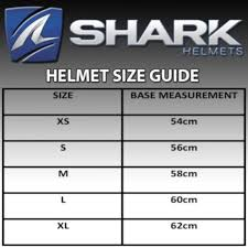 Motorcycle Helmet Measurement Chart Size Guide For Motorcycle Helmets