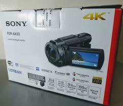 4k Ultra Hd 24p 30p 20 6mp Stills Sony Fdr Ax33 Camcorder