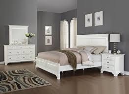 wooden furniture bedroom. Amazon.com: Roundhill Furniture Laveno 012 White Wood Bedroom  Set, Includes Queen Bed, Dresser, Mirror Night Stand: Kitchen \u0026 Dining Wooden Furniture Bedroom Amazon.com
