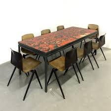 tile top dining table. Big Dining Table With Tile Top, 1967 - Top V