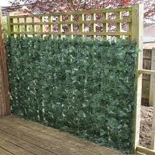 artificial ivy leaf hedge panels on a