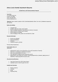 ... entry level dental assistant resume resume template