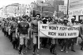 Afbeeldingsresultaat voor we wont fight another rich man's war