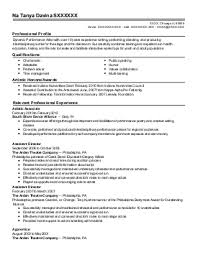 performing arts resume template free excel templates
