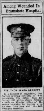 Thomas James Garrett - The Canadian Virtual War Memorial - Veterans Affairs  Canada