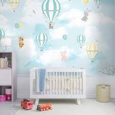 Hot Air Balloon Kids Wallpaper Design