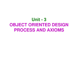 Design Axioms Unit 3 Object Oriented Design Process And Axioms Ppt