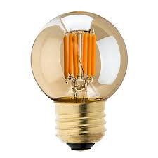 G16 5 LED Bulb Gold Tint LED Filament Bulb 25 Watt Equivalent