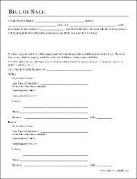 General Bill Of Sale Form Free Free General Bill Of Sale Organization To Organization