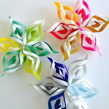 paper snowflakes 3d diy 3d paper snowflakes