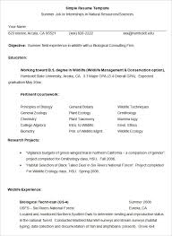 Simple Resume For Job Simple Job Resume | Best Professional Resumes ...