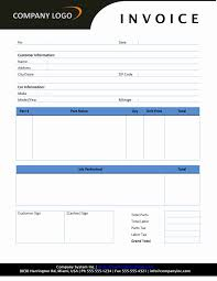 repair invoice template auto repair invoice