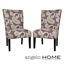 aprilia eggplant upholstered dining chairs. angelo:home bradford feathered paisley amethyst purple upholstered armless dining chairs (set of 2 aprilia eggplant l
