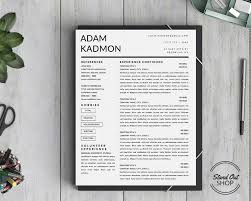 stand out shop — modern  page resume template for microsoft word   modern  page resume template for microsoft word instant download from stand out shop
