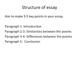 structure of essay aim to make key points in your essay structure of essay