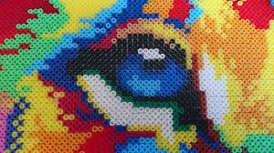 Mini Perler Bead Patterns Cool I Spent 48 Hours Using Tweezers And 48k Beads To Made A Lion