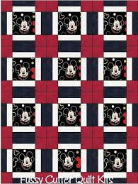 329 best Quilt patterns images on Pinterest | Sew, Baby quilts and ... & Mickey Mouse Baby Children Kids Red Black Fabric Fast Easy to Make Pre-Cut  Quilt Adamdwight.com