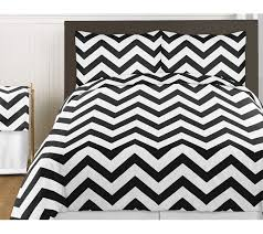 black and white chevron 3pc bed in a bag zig zag king bedding set collection only 60 99