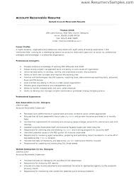 Sample Accounts Receivable Resume Accounts Receivable Specialist