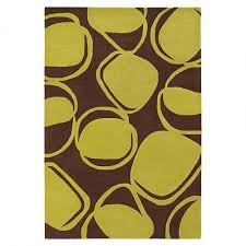 go for that totally late midcentury feel with this groovy river rock wool rug in chocolate and kiwi pairing with your funkiest upholstery and kitsch