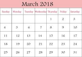 blank march calendar 2018 printable calendar 2018 free march 2018 printable calendar