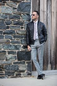 dress up your leather jacket