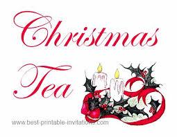 Christmas Tea Party Invitations Christmas Tea Party Invitations