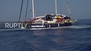 Italy Second Rescue Ship Docks In Lampedusa With 41 Migrants