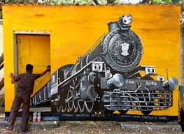 3d wall painting of rail engine by cwa at rail museum icf chennai youtube on wall art painters in chennai with 3d wall painting of rail engine by cwa at rail museum icf chennai