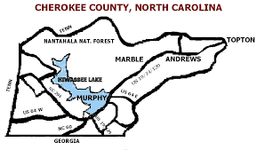 Image result for cherokee county nc maps