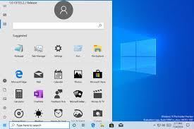 Microsoft Logo Design Software Microsoft Reveals New Windows 10 Start Menu In Accidental