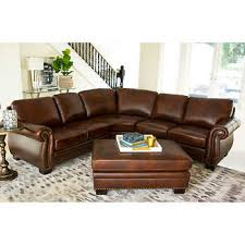 leather sectional couches. Isabelle Top Grain Leather Sectional And Ottoman Couches 6