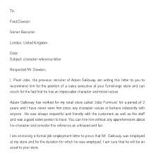 Student Character Reference Letter Character Reference Letter For Student Character Reference