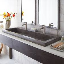 bathroom double trough sink wayfairca bathroom trough sink
