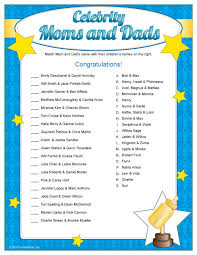 Remarkable Famous Moms Baby Shower Game 30 For Your Baby Shower Famous Mothers Baby Shower Game