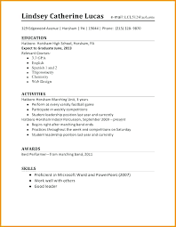 Resume Templates For Students Simple Job Resume Examples High School First Template Student