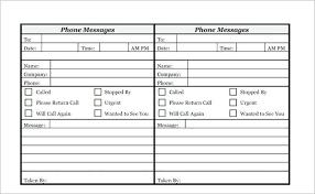 Telephone Printable Phone Log Free Call Template Message