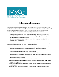Informational Interview Request Email Informational Interviews Are A Widely Middlesex Community College