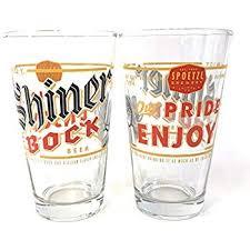spoetzl brewery shiner bock 16 ounce pint gl set of 2