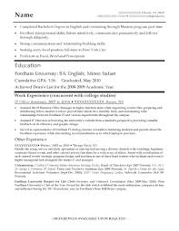 Entry Level Resume Resume Templates