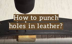 how to punch holes in leather for stitching