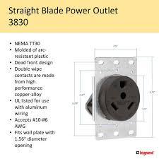 30 amp 125 volt 3 wire black rv flush 30 Amp Contact Wiring Diagram Shore Power Wiring Diagram