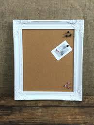 White Frame Cork Board White Wooden Framed Cork Board Framed Pin Board  Ornate Cork Home Improvement