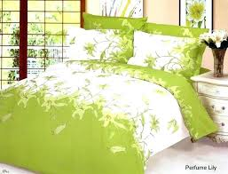sage green king size duvet covers green bed sheets perfume lily fl white bedding 6pc queen
