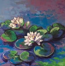 saatchi art artist angela osadczuk painting water lilies art