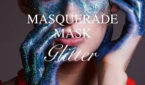 masquerade mask with glitter