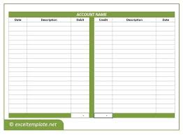 Simple Accounts Template T Account Template Free Download Accounts Excel Simple